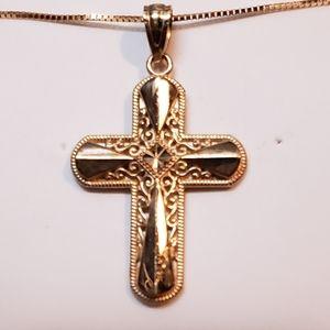 10k Gold Reversible Cross